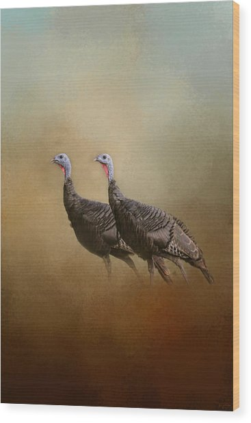 Wild Turkey At Shiloh Wood Print