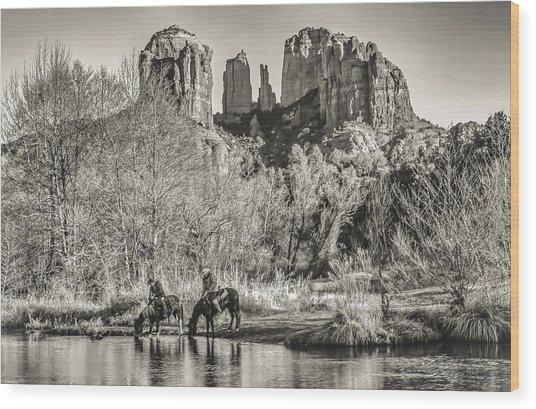 Wild Wild West Wood Print