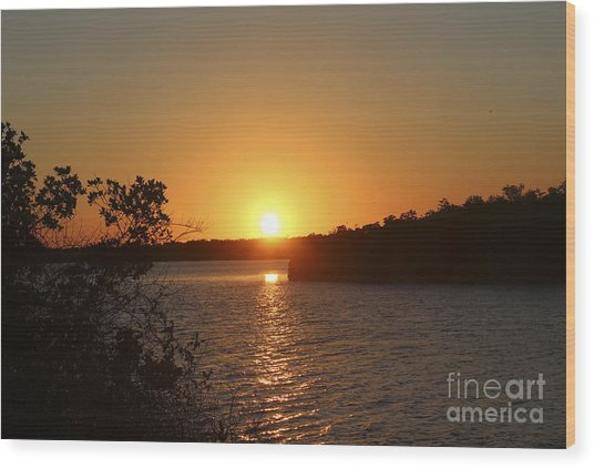 Wildcat Cove Sunset Wood Print