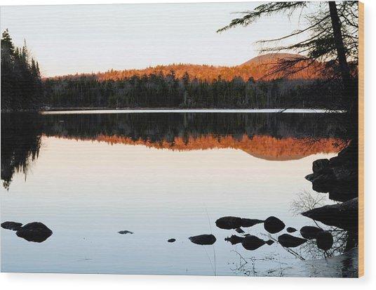 Wilderness Sunset Wood Print