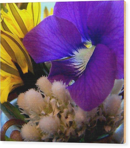 Wildflower Bouquet Wood Print