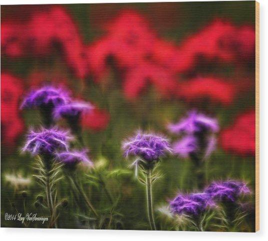Wildflower Fantasy Wood Print