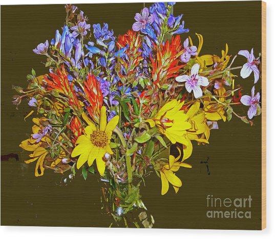 Wildflower Reminiscences Wood Print
