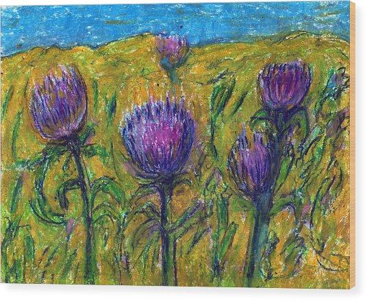 Wildflowers Wood Print by Yuri Lushnichenko