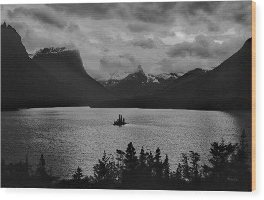 Wildgoose Island Bw Wood Print