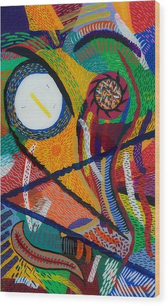 Wilfried Wood Print by Patrick OLeary