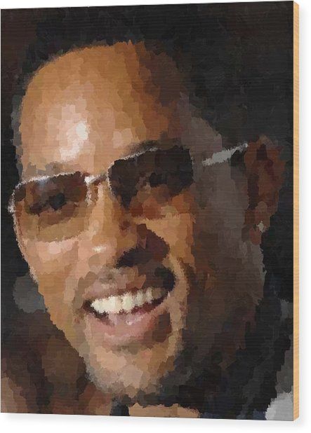 Will Smith Portrait Wood Print
