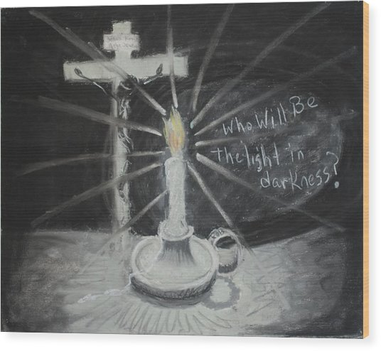 Will You Be The Light? Wood Print by Shelia  Doebereiner