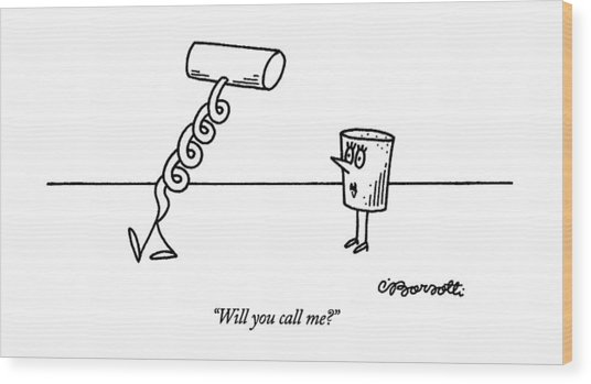 Will You Call Me? Wood Print