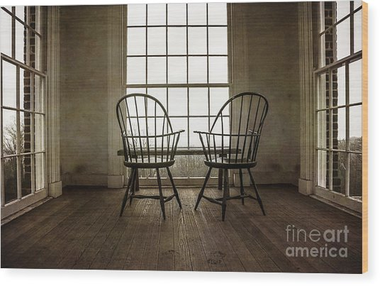 Will You Sit With Me? Wood Print