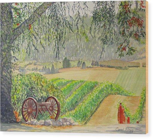 Willamette Valley Winery Wood Print