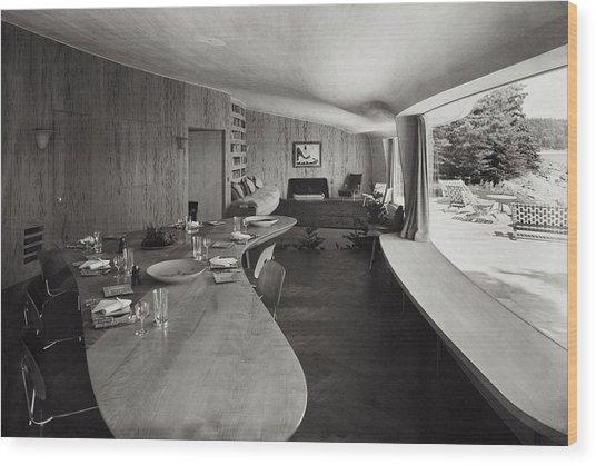 William A. M. Burden's Living Room Wood Print