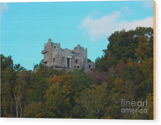 William Guillette Castle Wood Print