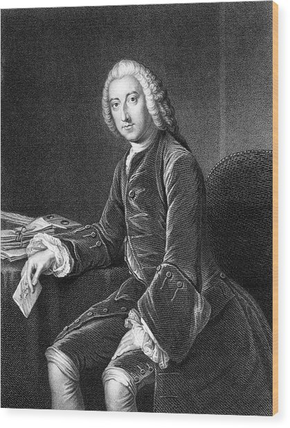 William Pitt - The Elder  1st Earl Wood Print by Mary Evans Picture Library