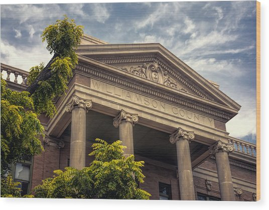 Williamson County Courthouse Wood Print