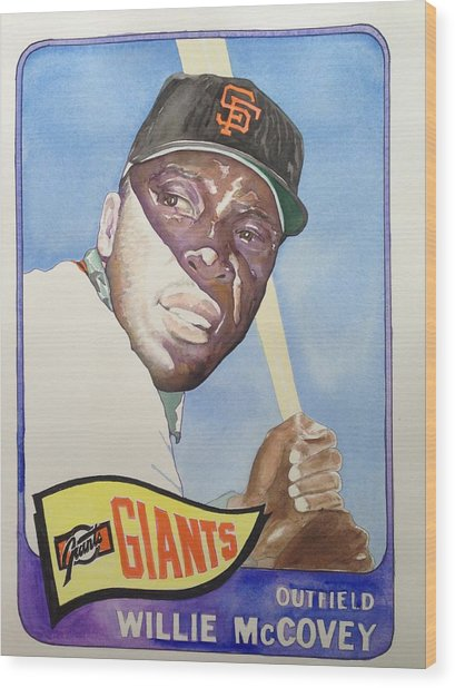 Willie Mccovey Wood Print by Robert  Myers