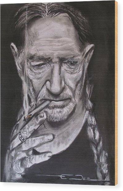 Willie Nelson - Doobie Brother Wood Print