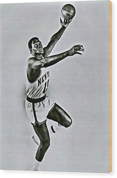 Willis Reed Wood Print