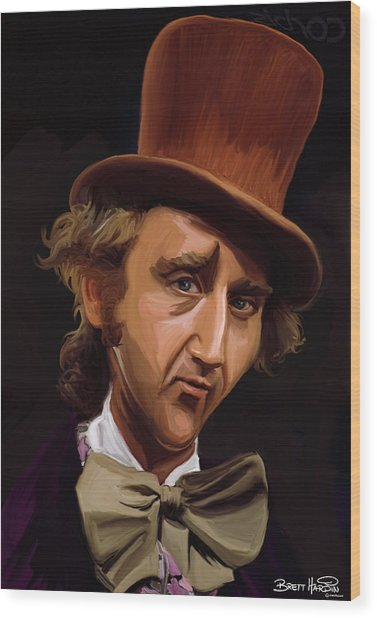 Willy Wonka Wood Print