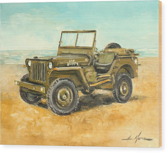 Willys Jeep Wood Print