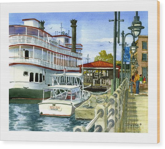 Wilmington Dock Wood Print