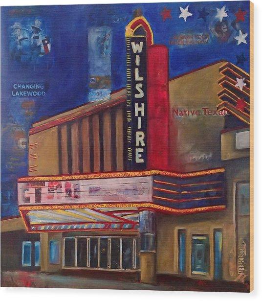 Wilshire Theater Wood Print by Katrina Rasmussen