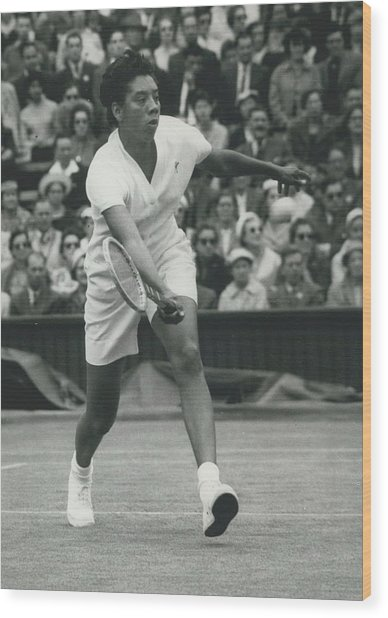 Wimbledon Championships - Second Day..., Althea Gibson In Wood Print by Retro Images Archive
