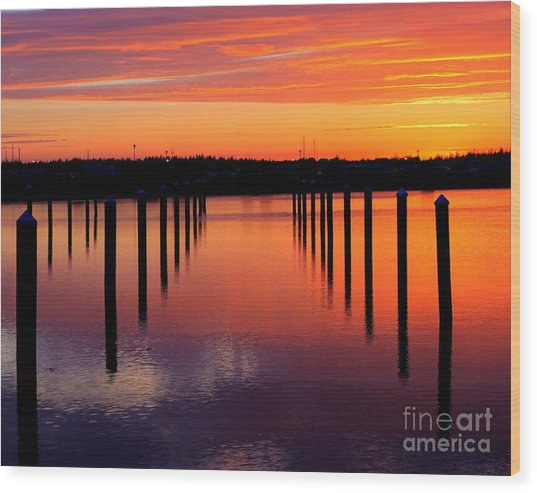 Winchester Bay Sunset Wood Print
