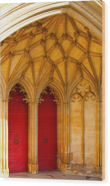 Winchester Cathedral Archway - Mike Hope Wood Print