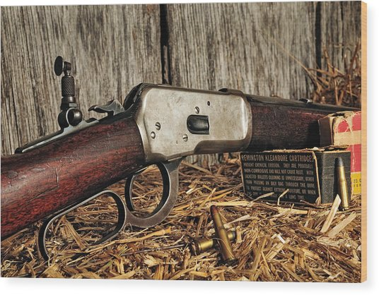 Winchester Lever Action Wood Print