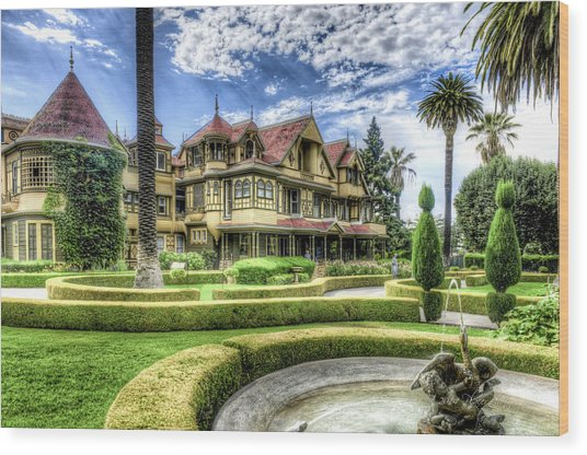 Wood Print featuring the photograph Winchester Mystery House by Jim Thompson