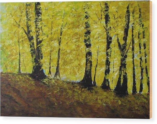 Wind Among Trees Wood Print by Vicki Conlon