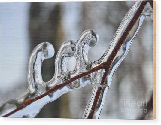 Wind-blown Icicles Wood Print