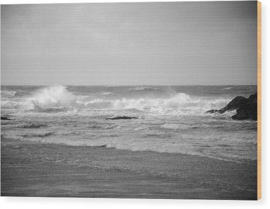 Wind Blown Waves Tofino Wood Print