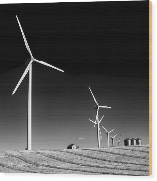 Wind Farm Wood Print