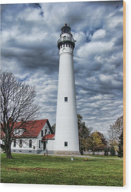 Wind Point Lighthouse Wood Print