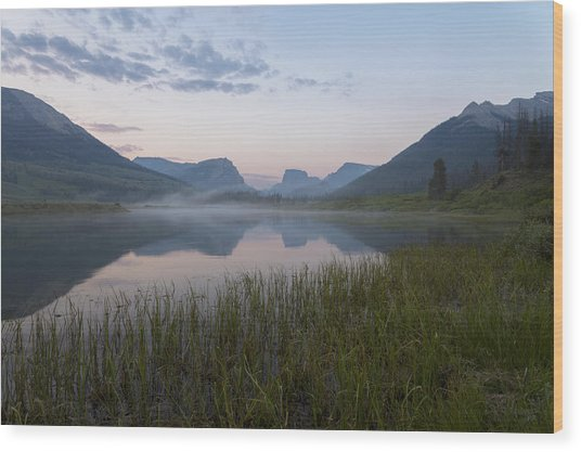 Wind River Morning Wood Print