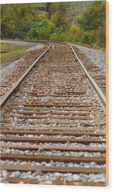 Winding Rails Wood Print by Heather Roper