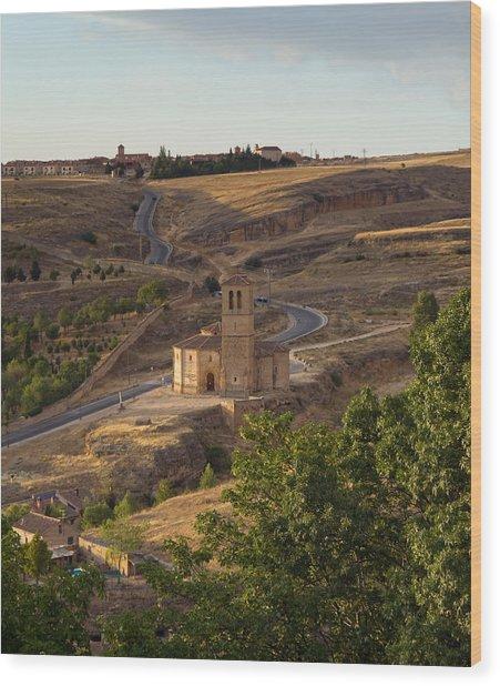 Winding Segovia Roads Wood Print by Viacheslav Savitskiy