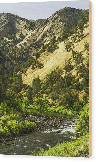 Winding Stream-yosemite-series 01 Wood Print by David Allen Pierson