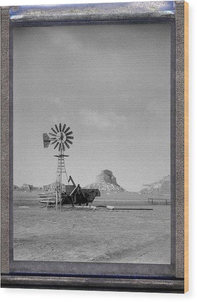 Windmill At The Bluffs Wood Print