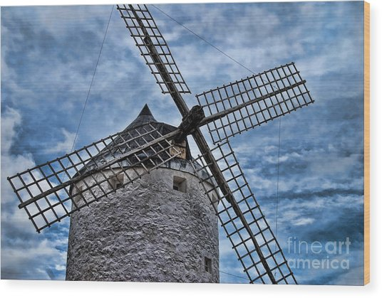 Windmill Of La Mancha Wood Print