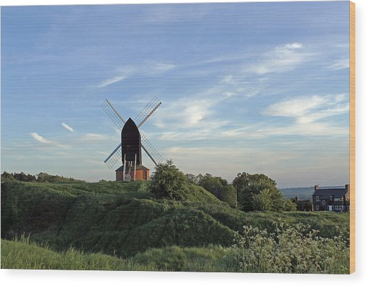 Windmill On Brill Common Wood Print