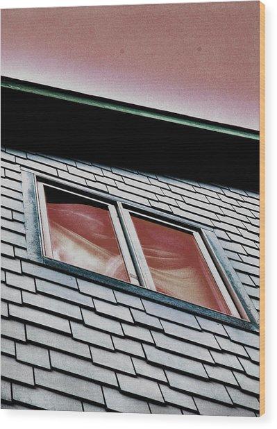 Window Above Wood Print by Stephanie Grooms
