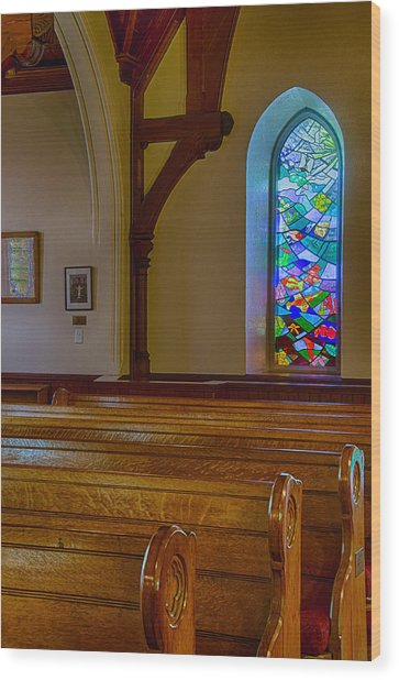 Window Behind The Nave Wood Print