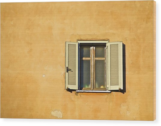 Window Of Rome Wood Print