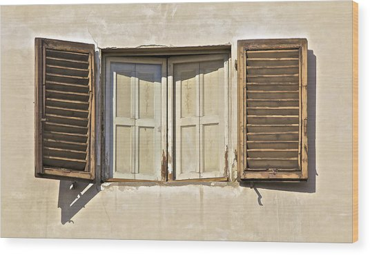 Window Of Tuscany Wood Print