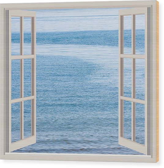 Window On The Sea Wood Print by John Vito Figorito