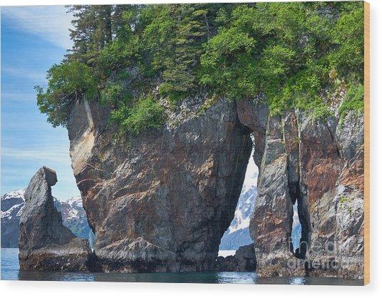 Window Rock Wood Print