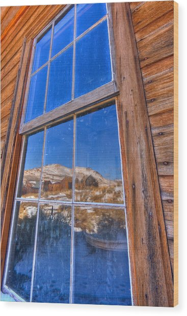 Window To Bodie Wood Print